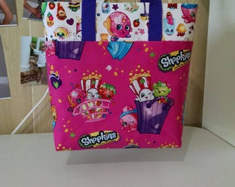 Girls Shopkins Tote Bag Library Bag Preschool Bag Reusable Tote