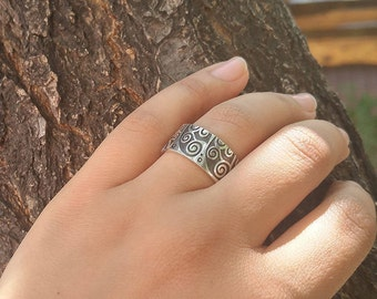 """Arm Root Handmade Silver Rings  """"Collection ArmRoot"""" . Armenian Jewelry, Armenian Silver, Armenian Rings, Eternity,  Armenian Gift"""