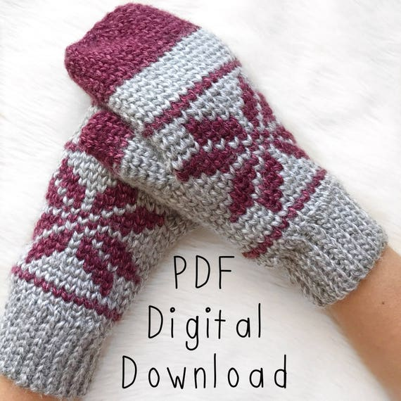 Ice-Kissed Mittens Crochet Pattern PDF DIGITAL DOWNLOAD, crochet ...