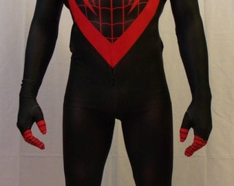 The Marvel Miles Morales Spider-man/ Girl/ Kid 3D Printing Costume