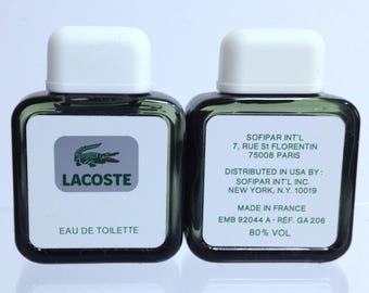 Lacoste Pour Homme by Lacoste Eau de Toilette, Vintage Men's Cologne, Full Travel 25ml Size (.85 oz) , Designer Fragrance Rum Sandalwood