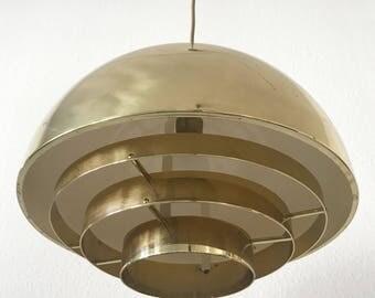 1 of 3 Gorgeous Mid Century Modern VEREINIGTE WERKSTÄTTEN Pendant Lamp | Hanging Light 1960s | Fog & Morup | Jo Hammerborg Era