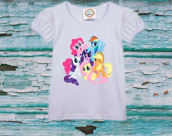 My Little Pony girl  shirt, girl  birthday shirt, girl shirt  baby shirts, toddler shirt, Heat Transfer shirt