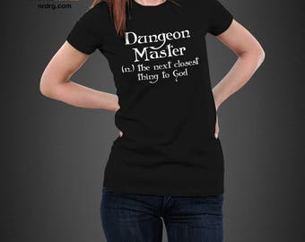 Dungeon Master Definition T-shirt - Dungeons and Dragons Shirt Design - DnD Unisex Tee - Custom Shirts Available