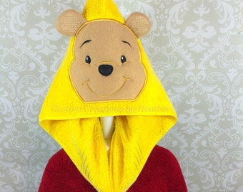 Winnie the Pooh Inspired Hooded Towel on High Quality Belk Department Store Towel