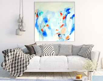 Original Art, Blue Abstract Painting, Abstract Canvas Painting, Modern Art, Contemporary Art, Abstract Wall Art, Wall Decor, Wall art