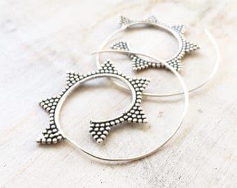 Agni Brass Spiral Earrings, Boho Earrings, Tribal Earrings, Hoop Earrings, Gold Earrings, Gipsy Earrings, Tribal BellyDance Jewellery,Silver
