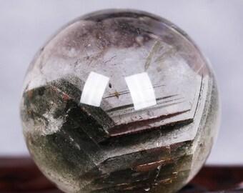 red Phantom Quartz Sphere- Chakra crystal-Phantom Quartz -Quartz Sphere - Crystal Ball 98grams41mm 1.62inch #Q490