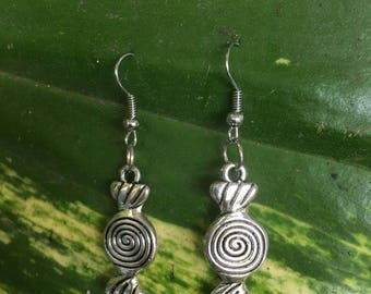 Antique Silver Charm Earrings. (4 different variations), Small Earrings, Dainty Earrings, Valentine's Day Gifts