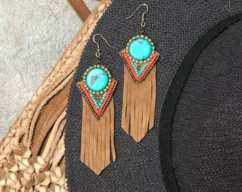 Beaded Fringe Earrings