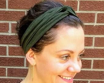 Neutral organic turban headband, bamboo organic cotton, baby, toddler,teen adult, olive, gray,natural, blue,charcoal,black