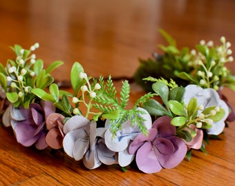 Pink Blue and Purple Mini Floral Crown