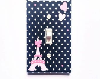 Eiffel Tower Light Switch Cover   Ooh La La   Paris Nursery Decor   Paris  Bedroom