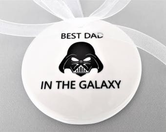 Best Dad In the Galaxy, Gift for Dad, Star Wars Ornament, Darth Vader Ornament, Darth Vader, Dad Ornament, Star Wars, Star Wars Gift, Daddy