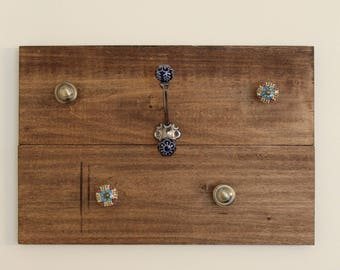 Rustic Jewelry Wall Hanger
