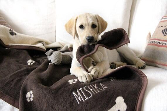 Personalized Dog Blanket Dog Gift Dog Lovers Pets
