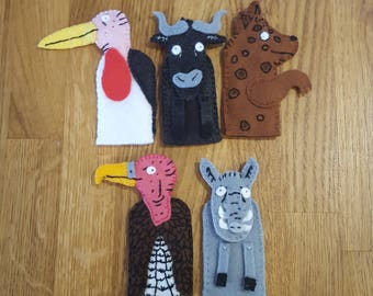 The Ugly Five finger puppets