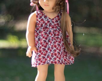 "Summer Floral Dress for 18"" Doll Like American Girl"