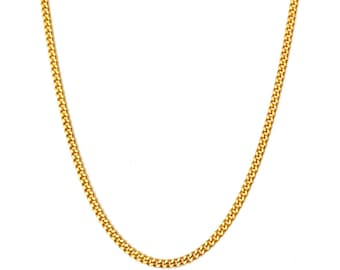 24 inch 18ct gold filled Cuban Curb Chain Necklace ( 2.5mm width )