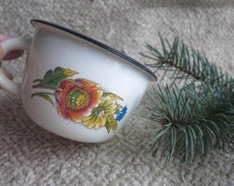 Enamel mug Enamel Cup Camping mug Camping mugs Vintage mugs Rustic mugs Travel mugs Enamel mugs Vintage Enamel Cup Rustic kitchen USSR
