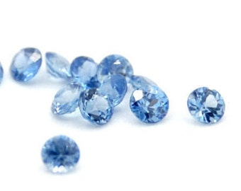 Blue sapphire natural stones round 1.7 mm 10 pieces 0.33 carat