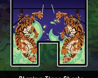 Flaming Tiger Basketball Shorts