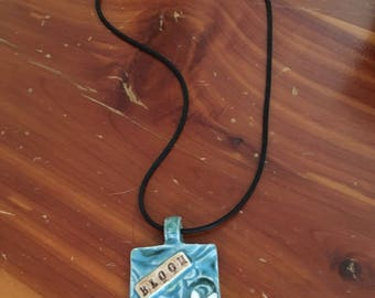 Painted Pottery Clay Necklace