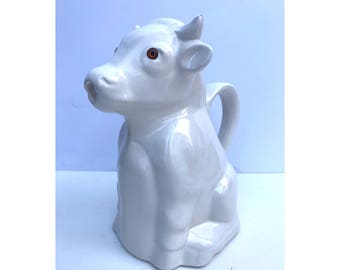 Vintage Cow Pitcher -- Vintage Milk Pitcher -- Vintage Animal Pitcher -- Animal Pitcher -- Milk Pitcher --
