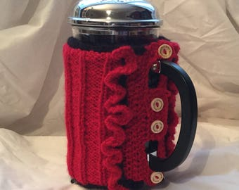 Knitted Cafetiere cozy