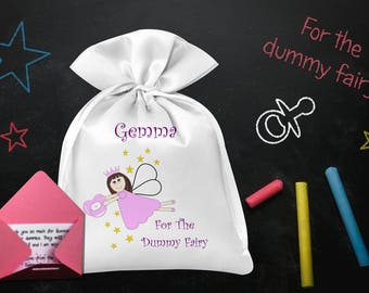 Dummy Fairy Bag & Free Thank You Note, Personalised, Boys, Girls - FREE POSTAGE