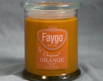 Faygo Orange Pop Candle