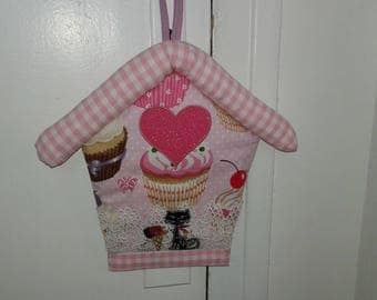 Pillow for girl-themed treats and small cat door handle