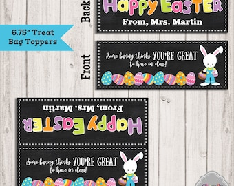 Student treats etsy easter treat bag toppers printable 675 inch teacher sunday school bunny negle Gallery