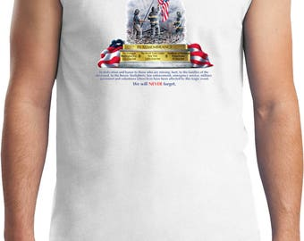 Men's 9-11 Never Forget Muscle Tee T-Shirt 06328HL2-2700