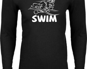 Men's Penguin Power Swim White Thermal Shirt WPENSWIM-N8201
