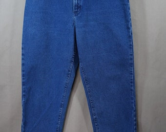 Vintage 80's LEE High Waisted Blue Jeans Size 16M Hipster Mom Jeans