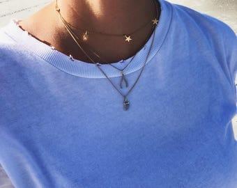 Diamond Wishbone Necklace