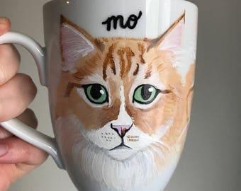 Custom Cat Mug - Personalized Ceramic Mug with YOUR Cat's Face!