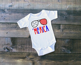 Merica Onesie or Toddler Shirt