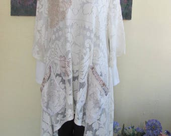 Upcycled Vintage Lace Swing Top