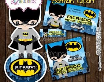 Batman Kit editable printable school labels