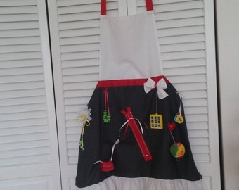Fidget Apron, Activity Apron, Aprons for Busy Hands, Alzheimers Care, Alzheimers Therapy, Dementia Care, Dementia Therapy, Special Needs