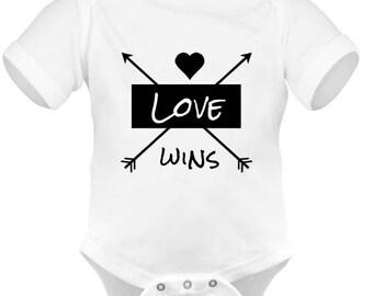 Love Wins onesie