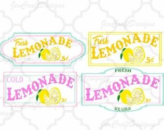Lemon Svg, Lemonade SVG, lemonade stand sign art bundle Fresh Lemonade svg, cuttable Design, Cricut Silhouette SVG, Eps, Dxf, Studio, Png