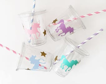 Unicorn Party Cups - Unicorn Birthday - First Birthday - Unicorn Theme - Mythical - Princess Party - Fairy Tale - Magical Birthday - Parties