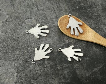 Hands, hands in silver, 22 mm jewelry making
