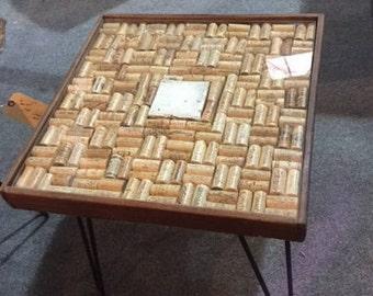 Custom Cork side table