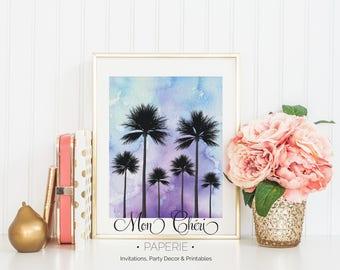 Palm Tree Watercolor Wall Art | Printable Wall Art |  Home Decor | Wall Print| Wall Art | Palm | Watercolor | Wall Art | Watercolor Design