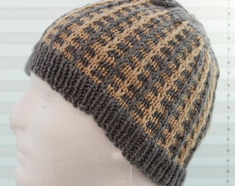 Instant download ' Charlie' knitted mens hat beanie pattern, Beanie, Cap HKP22