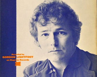 If You Could Read My Mind vintage sheet music by Gordon Lightfoot, photo cover, 1970, with guitar tablature